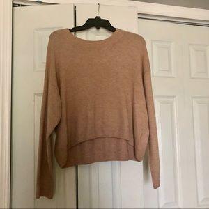 Tops - Tan Sweater Crop Top
